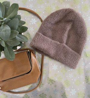 H&M Cappello in tessuto marrone chiaro