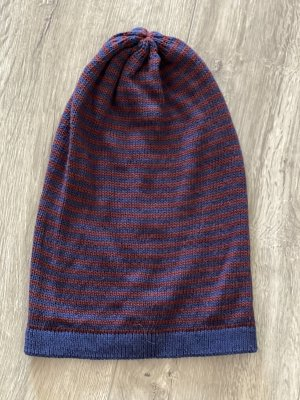 Fabric Hat dark blue-red