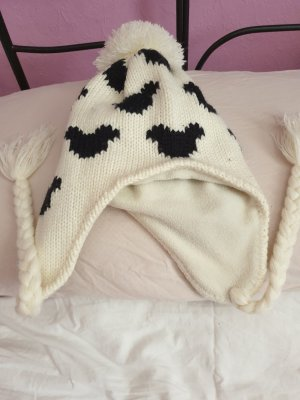 Knitted Hat white-black