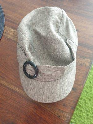 Elastomere Cappello in tessuto grigio chiaro-marrone chiaro