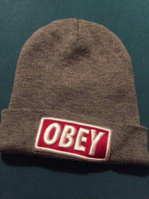 obey Beanie light grey