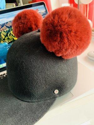 Karl Lagerfeld Cappello da panettiere nero-bordeaux