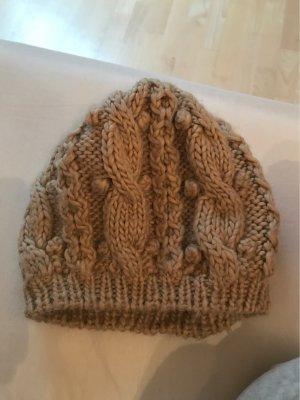 H&M Chapeau en tricot marron clair