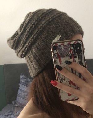 Eisglut Cappello a maglia marrone-grigio-bianco