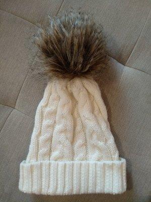 Cappello a punta bianco-marrone