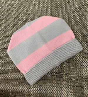 Bonnet rose clair-gris clair