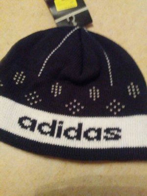 Adidas Beanie white-dark blue mixture fibre