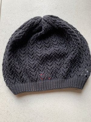 s.Oliver Beanie black-anthracite cotton