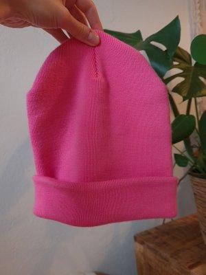 ARKET Gebreide Muts roze-neonroos