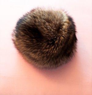 Cappello in pelliccia multicolore Pelliccia
