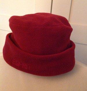 Esprit Czapka z tkaniny głęboka czerwień