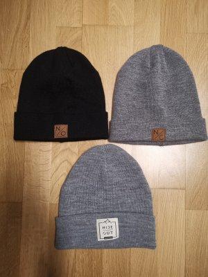 Mütze aus Wolle n/o grau