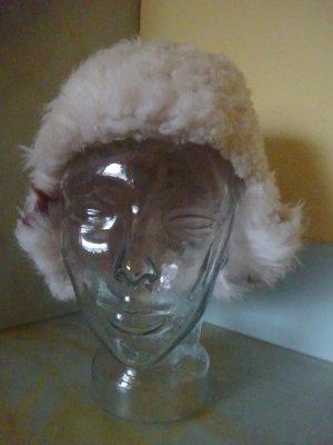 Chapeau en fourrure blanc-brun
