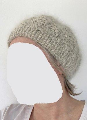 Mütze Baskenmütze Beret weiß / elfenbein, gefüttert, 25 cm Durchmesser