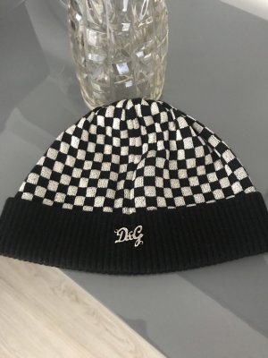 Dolce & Gabbana Cappello a maglia nero-argento