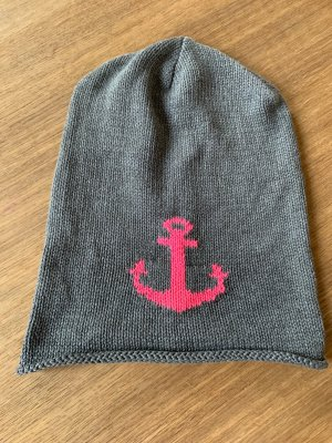 keine Beanie magenta-grey cotton