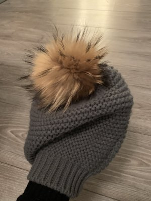 Kontatto Futrzana czapka ciemnoszary