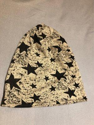 Cappello in tessuto nero-marrone chiaro