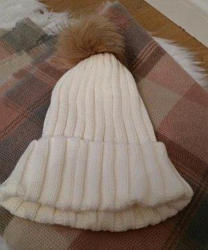 H&M Cappello a maglia bianco sporco-bianco