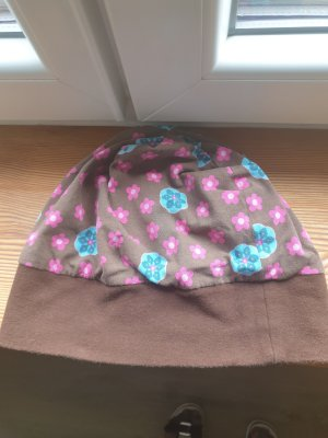 Fabric Hat brown-turquoise