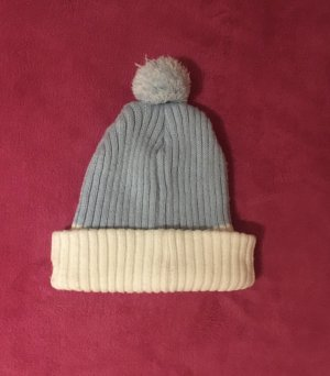 Balmain for H&M Knitted Hat white-azure cotton