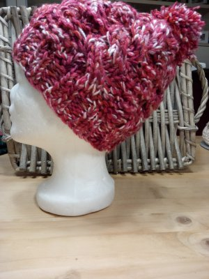 Handmade Sombrero de punto rojo ladrillo-carmín