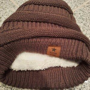 Superstar Futrzana czapka brązowy