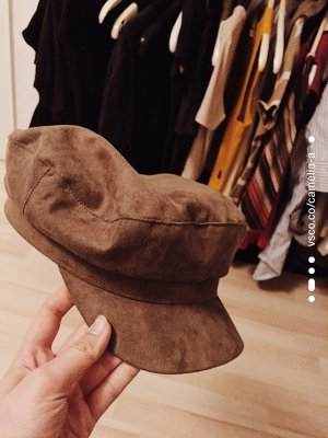 H&M Fabric Hat light brown-grey brown