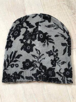 C&A Sombrero de punto gris-negro