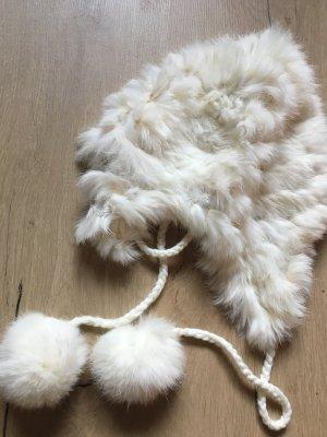 Hallhuber Fur Hat white