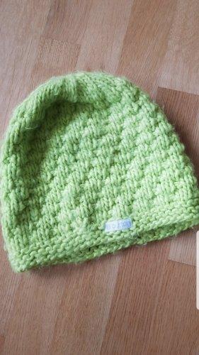 Burton Chapeau en tricot vert fluo