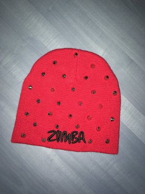Zumba Fitness Cappello in tessuto rosso scuro