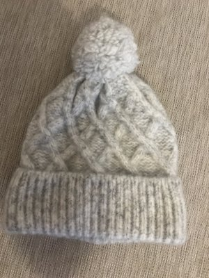 H&M Knitted Hat light grey polyamide