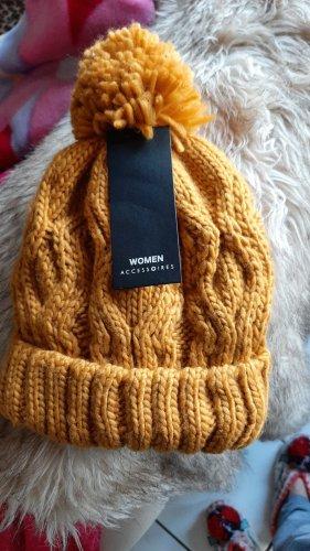 Accessoires Cappello a maglia arancione chiaro-albicocca