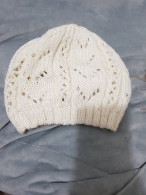 H&M Gorro tejido blanco puro-crema