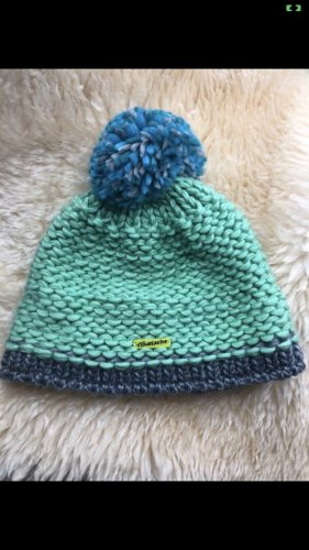 Crochet Cap light blue-turquoise