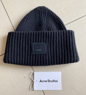 Acne Studios Czapka typu beanie czarny