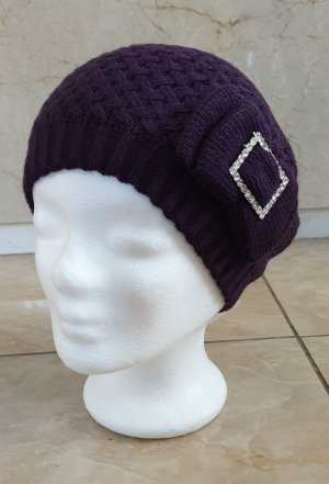 Fabric Hat grey violet