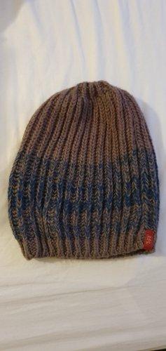 edc Knitted Hat beige-blue