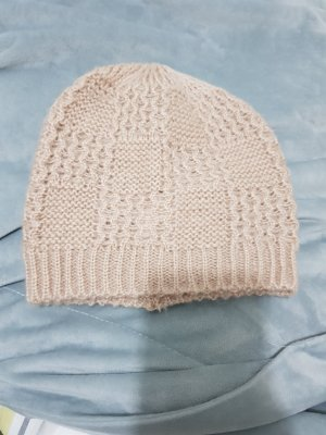 H&M Knitted Hat dusky pink-pink