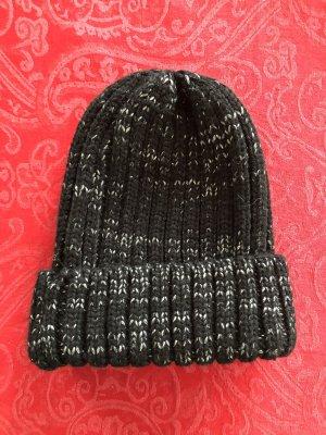 keine Cappello a maglia nero-argento Acrilico