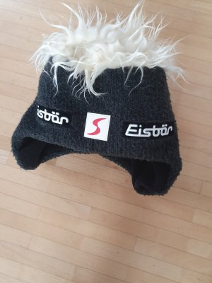 Eisbär Knitted Hat black-oatmeal
