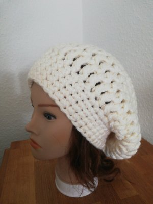 hand gemacht Crochet Cap natural white