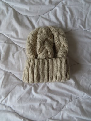 H&M Knitted Hat natural white-oatmeal