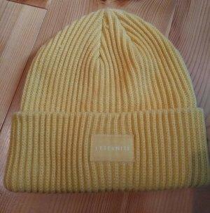 H&M Chapeau en tricot jaune acrylique