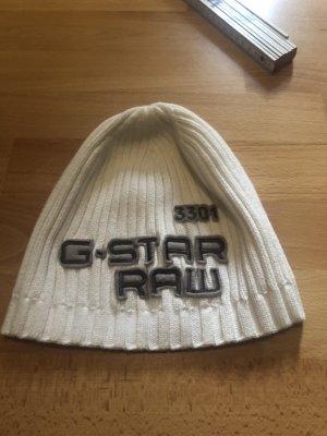 G-Star Raw Cappello a maglia bianco sporco
