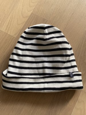Gant Bonnet blanc-bleu foncé coton