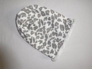 H&M Beanie light grey-white