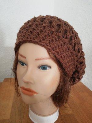 hand gemacht Crochet Cap brown