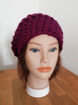 hand gemacht Crochet Cap purple